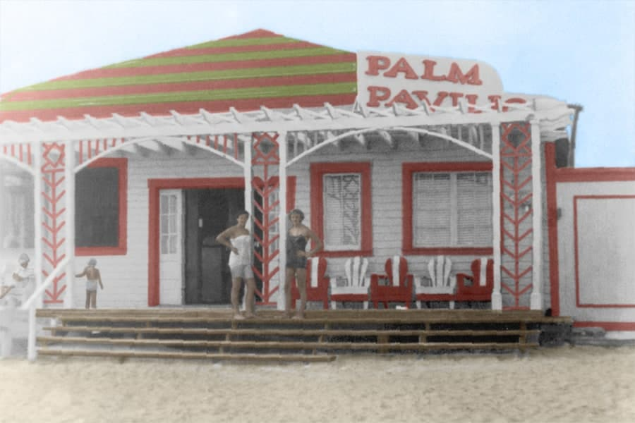 Palm Pavilion Photo After Colorizing