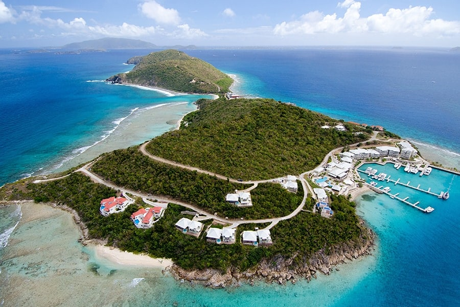 Scrub Island Resort Aerial After Retouched