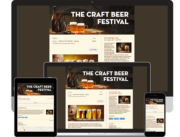 Craft Beer Festival Computer Tablet, iPad and Smartphone