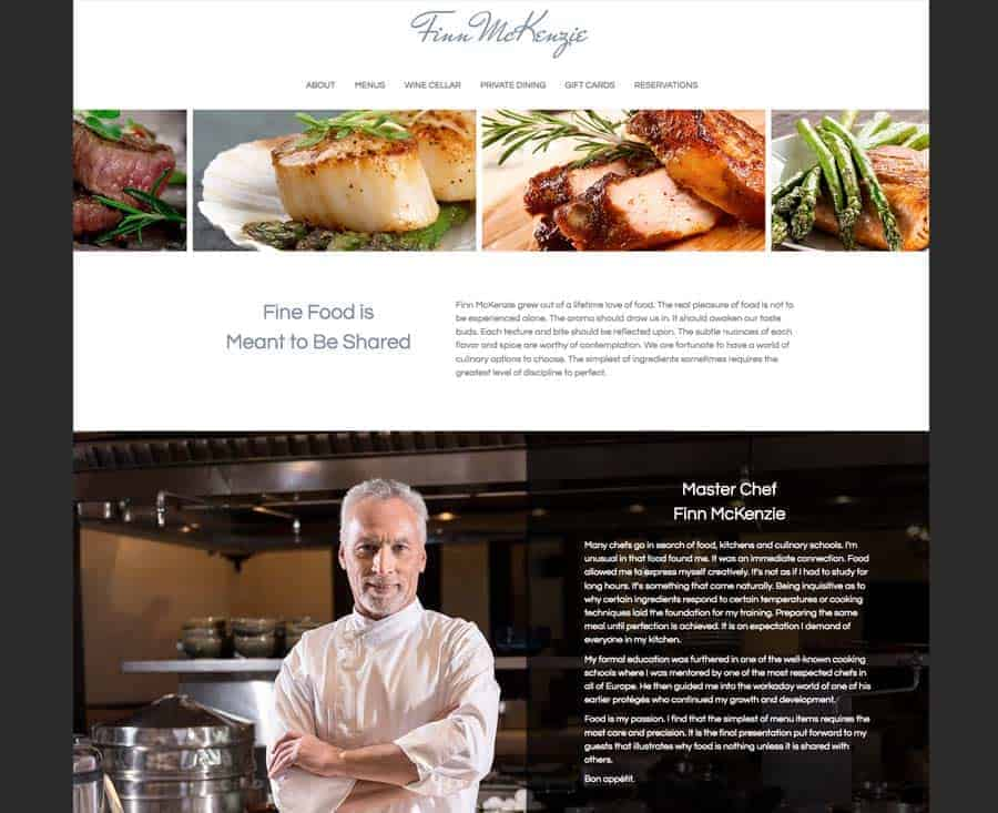 Fine Dining Restaurant Demo Website