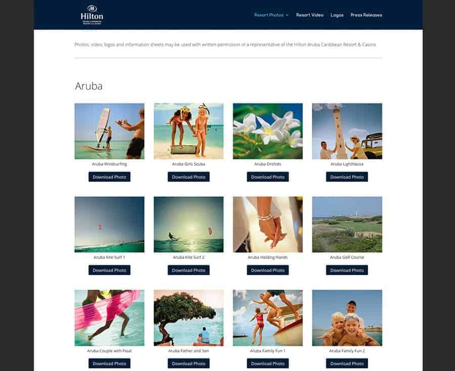 Hilton Aruba Online Media Library