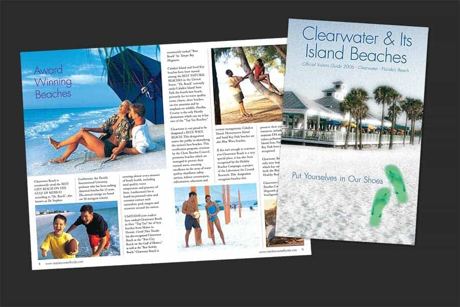 Clearwater & Its Island Beaches Visitor Guide Sample