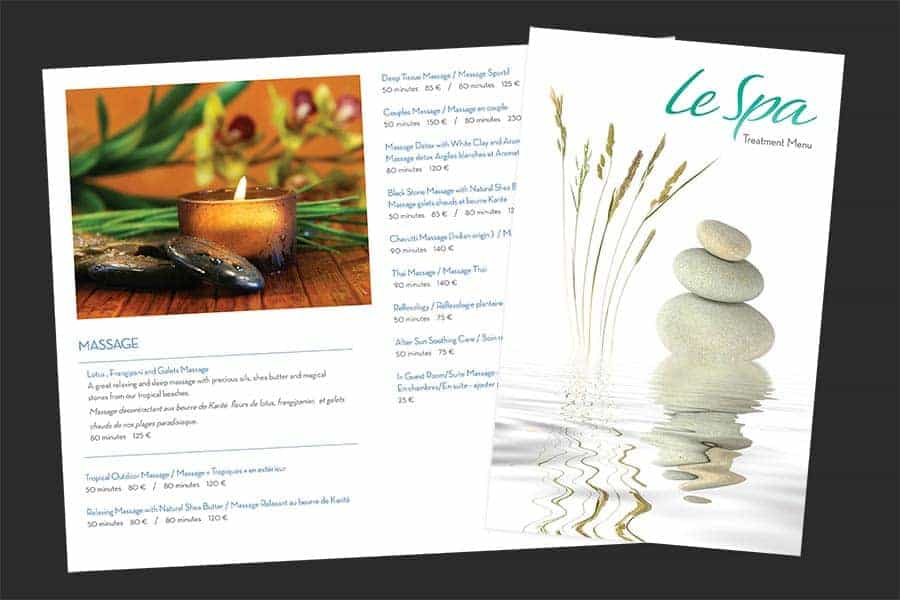 Le Spa Treatment Menu