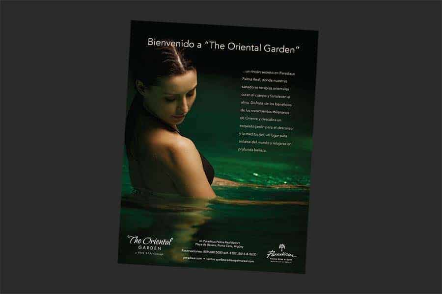 The Oriental Garden Spa - Print Sample