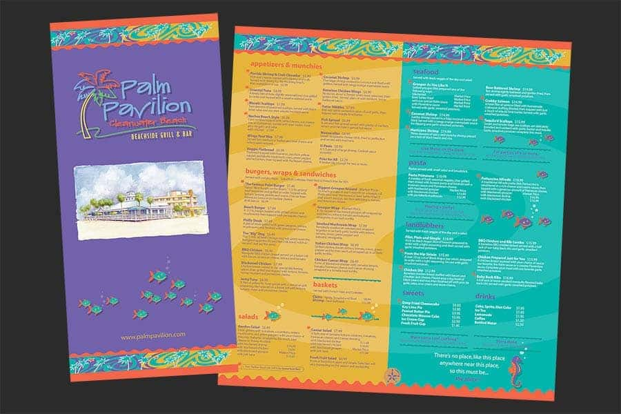 Palm Pavilion Beachside Grill & Bar Menu