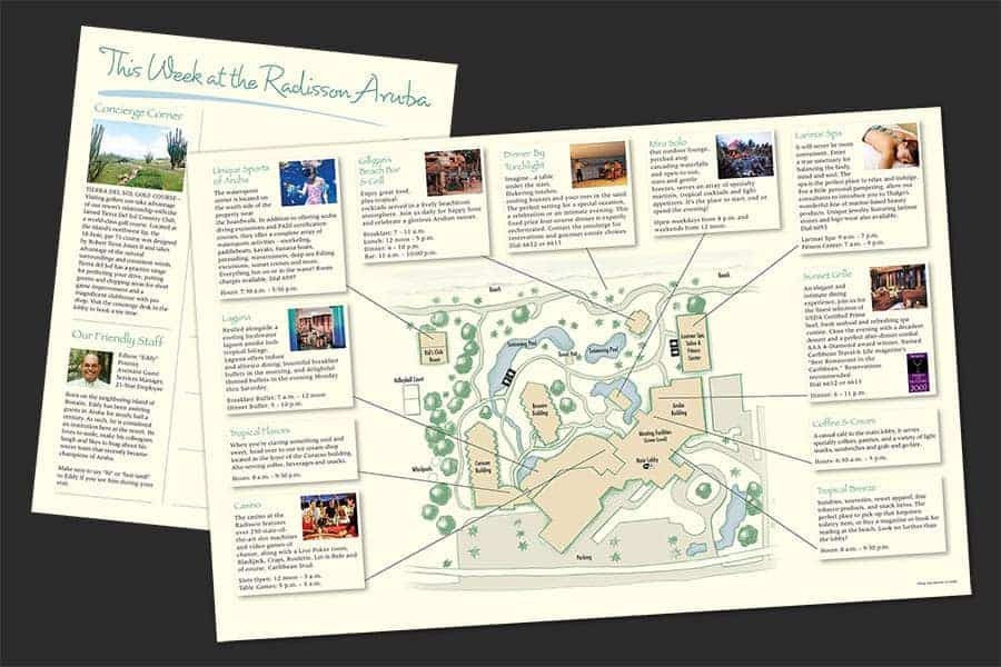 Radisson Aruba Guest Newsletter and Map