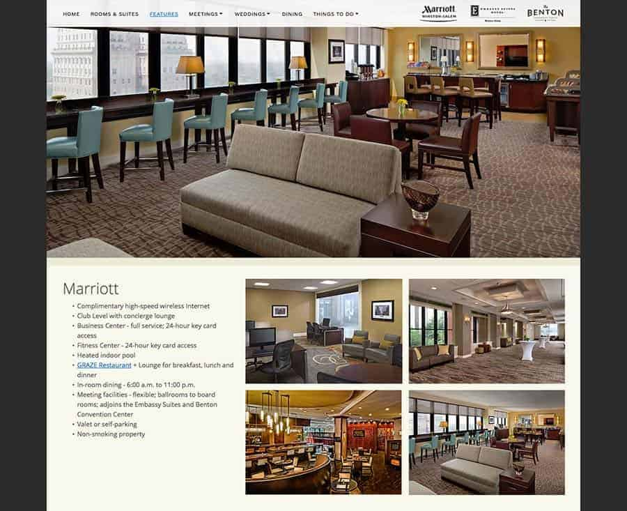 Twin City Quarter Website Winston-Salem Marriott, Embassy Suites, Benton Convention Center