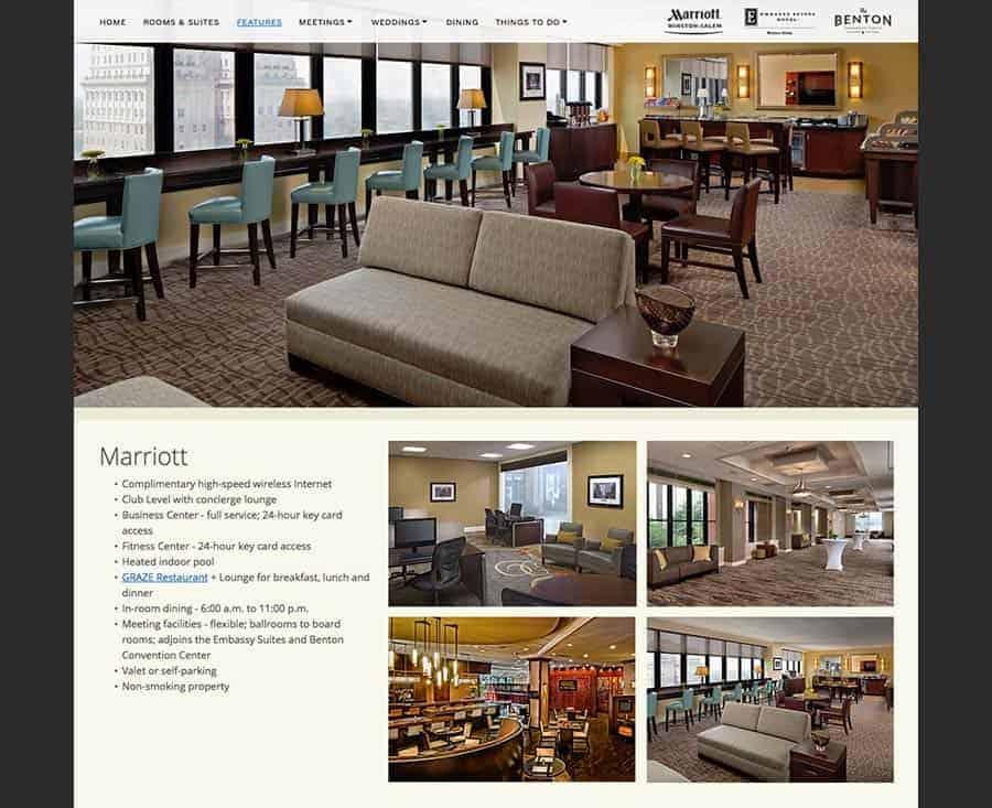 Twin City Quarter Website Winston-Salem Marriott, Embassy Suites, Benton Convention Center