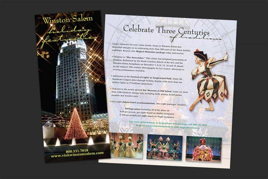 Winston-Salem Holiday Calendar of Events Brochure