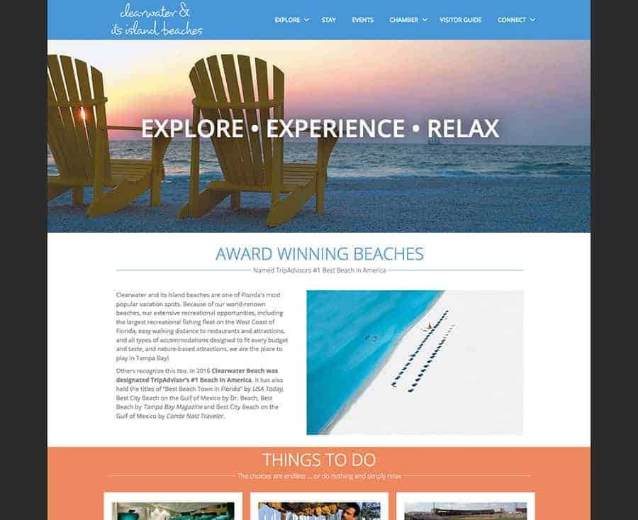 Clearwater& Its Island Beaches Demo Chamber of Commerce Website