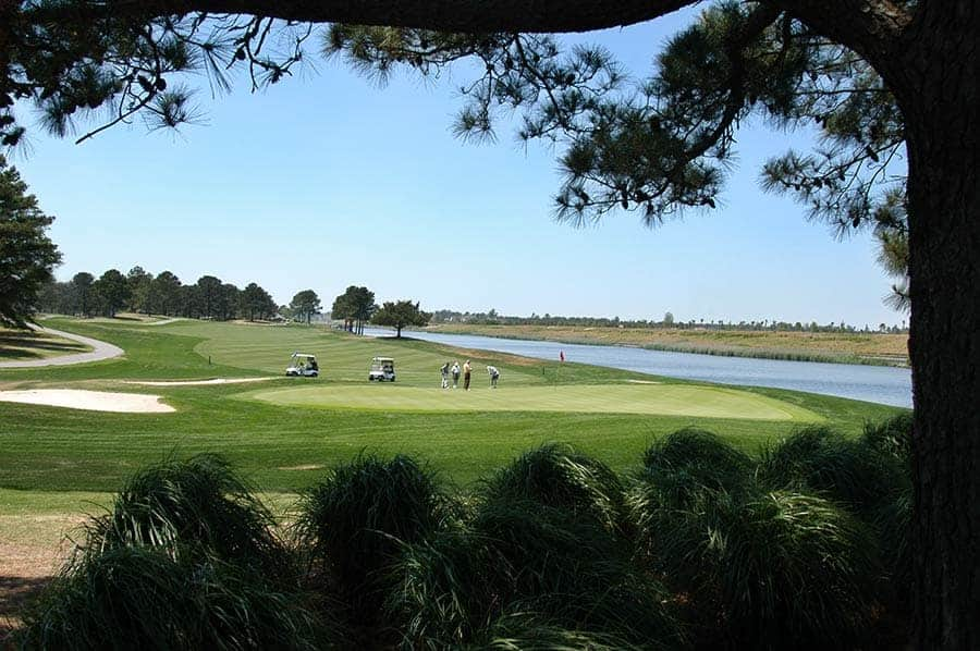 Golfing at Myrtle Beach, South Carolina on the Intracoastal Waterway
