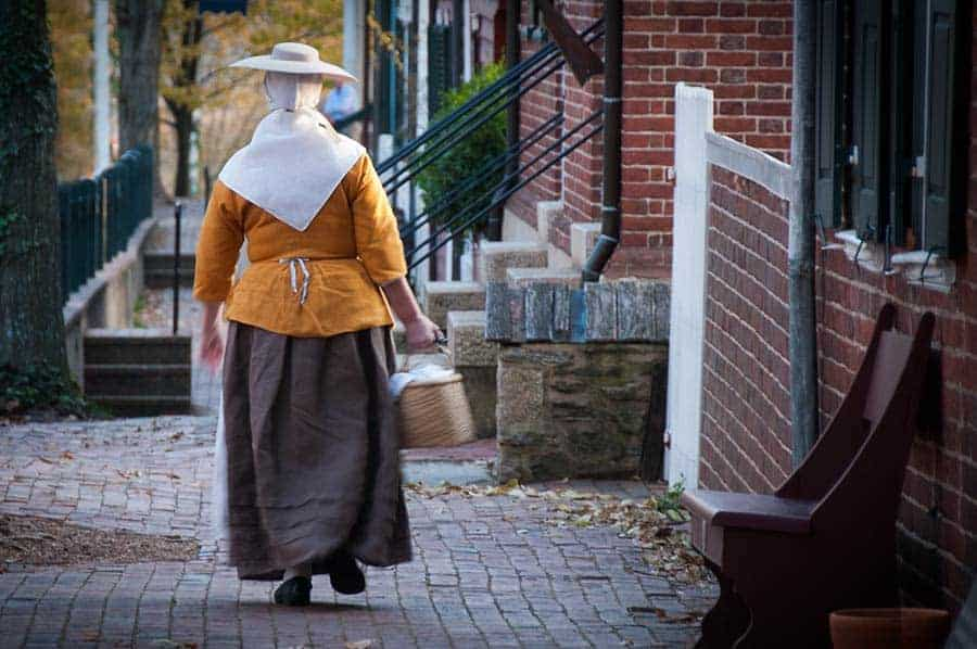 Old Salem Costumed Characters Moravians