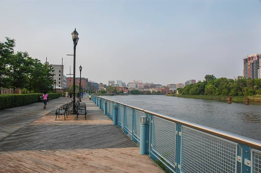 Christina River, Wilmington, Delaware near Iron Hill Brewery