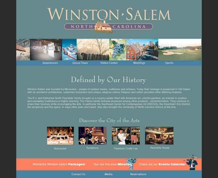 Destination Website - Winston-Salem North Carolina CVB