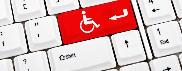 Keyboard with Handicap Key in Red