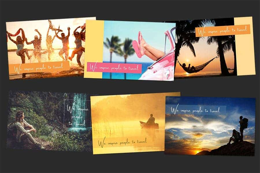Flying Compass Sample Postcards Colllage
