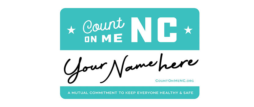 Count on Me NC Name Badge