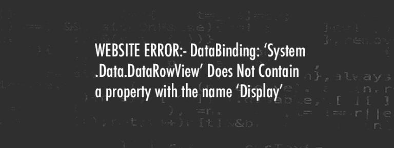 Website Down? Broken?